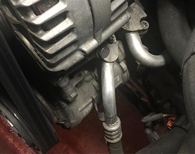 a/c compressor in car