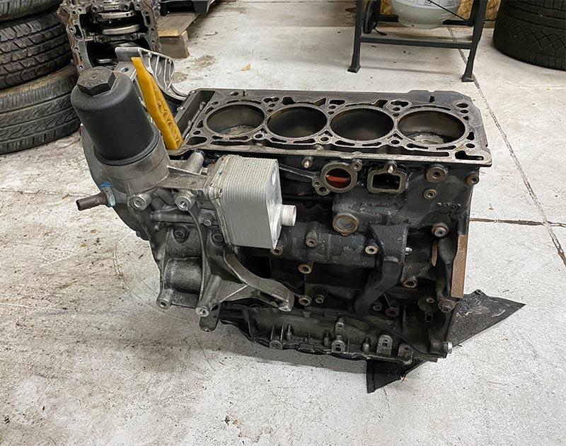 bottom end four cylinder engine